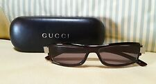 Gucci Sonnenbrille Sunglasses GG 1484/S 54/14 + Etui - black dark red logo - New