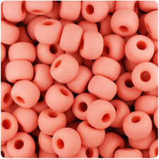 250 Coral Orange Matte 11x8mm Barrel Pony Beads Made in the USA
