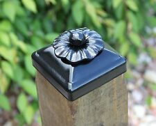 Decorative Wrought Iron Rosette Flower Top Post Cap for 4x4 wood /composite post