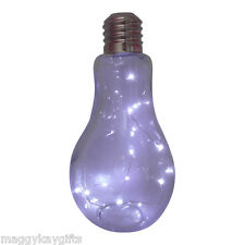Large Bulb LED Table Light – Novelty – Battery – Glass – Funky Teenager Gift