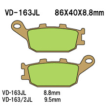 Vesrah Sintered Metal Rear Brake Pads  VD-163/2JL