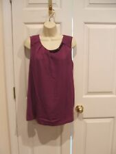 NWT WORTHINGTON  GRAPE JUICE Slinky SLEEVELESS Tunic Top Shirt Size XL