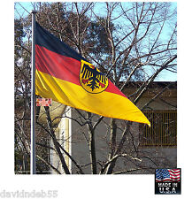 GERMAN Federal COAT OF ARMS GERMANY EAGLE 3x5 ft SuperPoly FLAG Banner*USA MADE