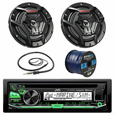 "JVC KDR97MBS Marine CD Player, 2x 100-W 6.5"" Speaker, Radio Antenna, 50Ft Wire"