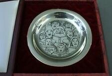 1972 Norman Rockwell The Carolers Sterling Silver Franklin Mint Christmas Plate