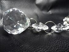 """6.5"""" Long Chandelier Lamp Crystal Clear Faceted Hanging Ball Prism Charm Pendant"""