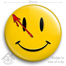 "WATCHMEN COMIC SMILEY FACE LOGO BADGE with blood 25mm 1"" Badge"