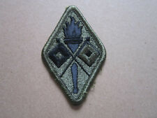 US Military US Army Signal Corps Subdued Woven Cloth Patch Badge