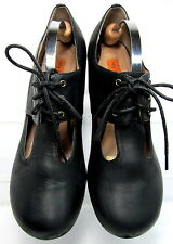 MIZ MOOZ EMORY Oxford Pump Lace up Comfort Black Leather Size 9.5 Minimal Wear