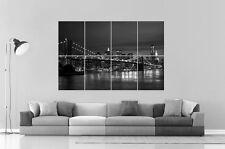Brooklyn Bridge pont de brooklyn  B&W CITY VILLE  Poster Grand format A0