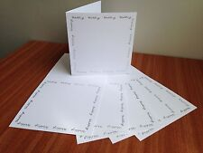 "Kanban 10 x 5"" Square Silver Script Smooth White Wedding Invitation Card Blanks"