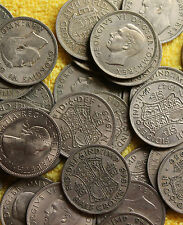 100 ENGLISH HALFCROWNS OLD BRITISH COIN COLLECTION WHOLESALE COINS