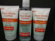3 NEUTROGENA-OIL-FREE ACNE STRESS CONTROL SCRUB-TONER AS PICTURED JL 1064