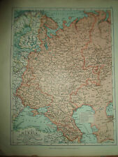 MAP c1920 EUROPEAN RUSSIA From Stanfords London Atlas of Universal Geography