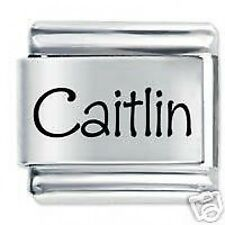 CAITLIN Name  - Daisy Charms by JSC Fits Classic Size Italian Charm Bracelet