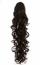 Long Curly Wavy Style Ponytail Drawstring Clip Hairpiece   Natural/Ombre Shades