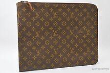 Authentic Louis Vuitton Monogram Poche Documents Brief Case Old Model LV 24417