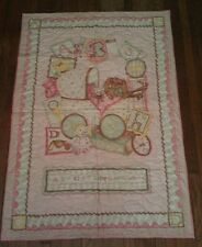 Cute Pink quilt with baby carriage crib size 29 x43-**FLASH SALE**FREE SHIPPING!