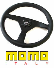 MOMO Monte Carlo Tuning Tuner Steering Wheel Black Leather Black Stiching 320mm