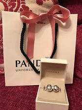 Genuine Disney Pandora Minnie & Mickey Mouse Clip Charms & Disney Parks Box&bag
