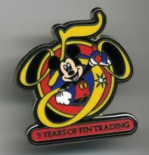 DISNEY MICKEY MOUSE 5 YEARS OF PIN TRADING PIN LE NEW ON CARD
