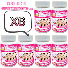 X6 SUPREME GLUTA WHITE 150000MG SUPER WHITENING GLUTATHIONE ANTI-AGING 180cap.