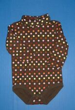 Gymboree Fall for Monkeys Girls Brown Dots Romper Pink Dots Overalls 6-12M