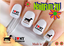 "RTG Set#126 DOG BREED ""I Love my Dachshund"" WaterSlide Decals Nail Art Transfers"