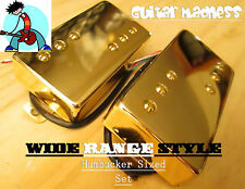 Gold Wide Range Style Alnico 5 Humbucker Set (4-wire)