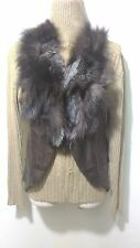 new design 100% real fox fur collar waistcoat