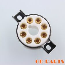 EIZZ 8 Pin Octal Ceramic Tube socket for KT88 EL34 GZ34 6V6 6550 Gold Plated 1PC