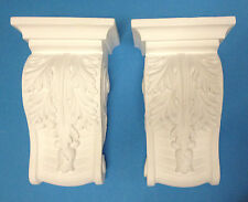 Pair of Corbels -  Resin - Not Polystyrene  - LYDIA - L 195MM W 120MM D 80MM