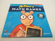 Arthur's Learning Series Math Games the Learning Co Windows Compatible Ages 4-7