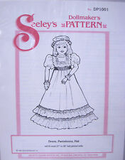 "Seeley's Dollmakers Pattern DP1001 DRESS PANTALOONS & HAT 27-28"" Ball Joint Doll"