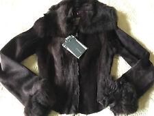*NWT* MAX MARA SPORT MAX  Eggplant Lambskin Leather & Fur Jacket~Sz.6/40~$3,249