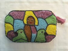 Clutch Purse Handbag HAND BEADED ABSTRACT ART by Jean Baptiste Jean Joseph NWT