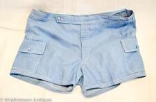 True Vintage 1960s ACAPULCO Men's SWIMSUIT SHORTS Blue Jean 2/Pockets