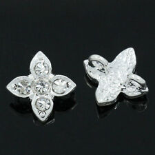 """50PCs Spacer Beads Slider With Rhinestone 2 Holes 13mm x 10mm( 4/8""""x 3/8"""")"""