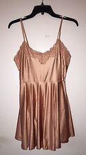 NWT Free People FP Movement Satin Dress With Built-In Leotard Lace Trim Sz M