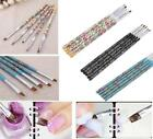 UV Gel Acrylic Nail Art Brush Painting Pen Wood Manicure Nail Tool 5pcs Set EY