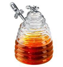 Artland Verre Abeille Ruche Pot De Miel Jar Avec Tremper Couvercle Anse,443,6 Ml
