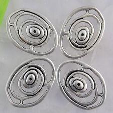 Ed2018 14pcs Tibetan silver swirl oval findings