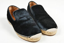 Celine Black Pony Hair Espadrille Slip On Shoe SZ 40