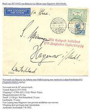 NED INDIE  1932-7-28  CV  BATAVIA ATHENE HALLE/LEIPZIG   LEES!! FINE  CREAS