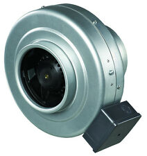 "Inline Centrifugal Metal Ventilation Fan Compatible with 6"" Duct"