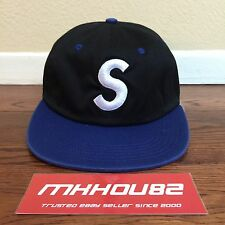 New Supreme Washed S Logo 6-Panel Cap Hat Camp 5 Classic Spring Summer 2016