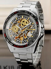 New Mens  Skeleton Automatic  Design Watch Silver No 25