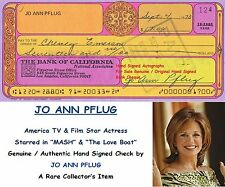 JO ANN PFLUG    FILM STAR ACTRESS   GENUINE HAND SIGNED BANK CHEQUE  - RARE ITEM