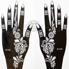 Henna TATTOO STENCIL modello Tatuaggio henné Body Paint Bollywood Sari Set s104