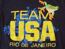 TEAM USA Rio De Janeiro Olympic Sports Soccer Blue Cotton T Shirt Size M